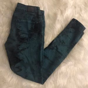American Eagle Tie Die Jeggings